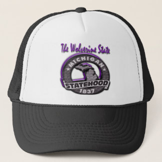 Michigan The Wolverine State Mich Statehood Trucker Hat