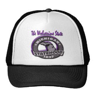 Michigan The Wolverine State Mich Statehood Trucker Hat