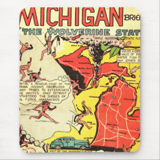 Michigan the Wolverine State Mouse Pad