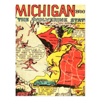 Michigan the Wolverine State Postcard