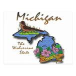 Michigan The Wolverine State Robin Apple Postcard