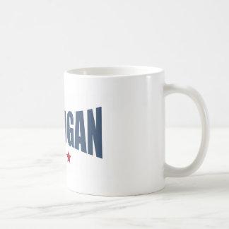 Michigan Three Stars Design Coffee Mugs