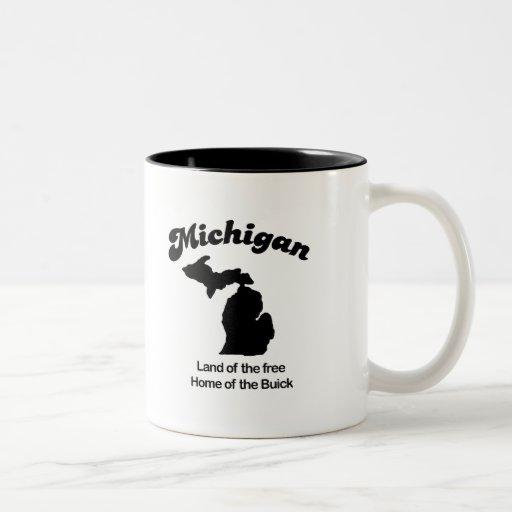 Michigan - tierra del hogar libre de Buick Tazas