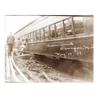 Michigan Train Wreck Postcard