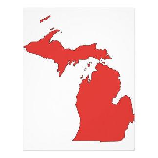 Michigan: Un estado ROJO Membrete Personalizado
