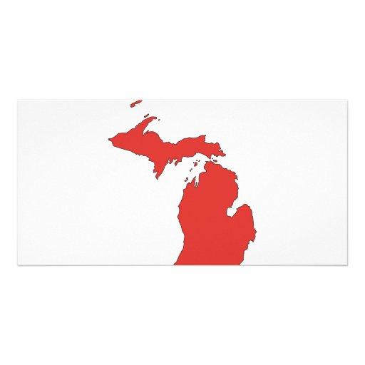 Michigan: Un estado ROJO Tarjeta Personal Con Foto