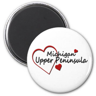 Michigan Upper Peninsula Heart Design Magnet