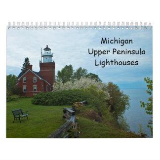 Michigan Upper Peninsula Lighthouses Calendar