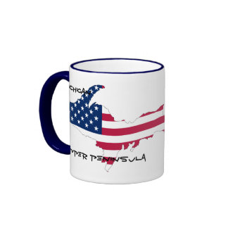 Michigan Upper Peninsula Ringer Mug