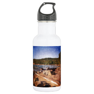 Michigan Upper Peninsula Shoreline Water Bottle