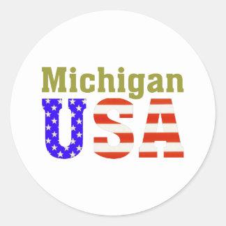 Michigan USA! Classic Round Sticker