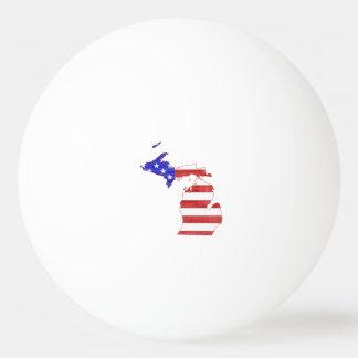 Michigan USA flag silhouette state map Ping-Pong Ball