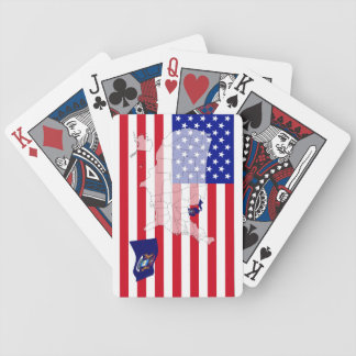 Michigan-USA State flag map playing cards