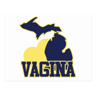 Michigan Vagina Postcard
