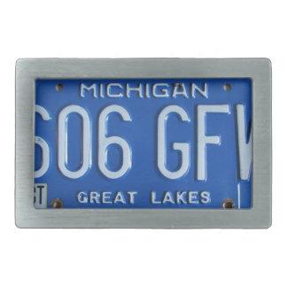 Michigan Vintage License Plate Great Lakes Buckle Rectangular Belt Buckles