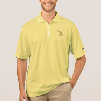 Michigan Vintage Picture Map Polo Shirt
