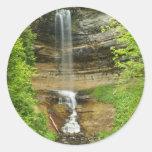 Michigan Waterfalls Classic Round Sticker