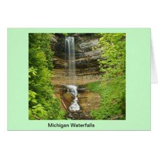 Michigan Waterfalls Greeting Card