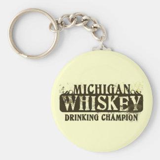 Michigan Whiskey Drinking Champion Key Chain