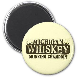Michigan Whiskey Drinking Champion Magnet
