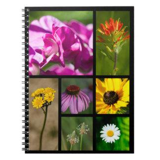 Michigan Wildflowers Montage Notebook