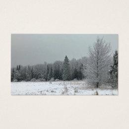 Michigan Winter Landscape Business Cards