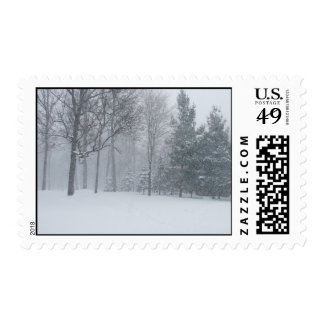 Michigan Winter Snow On The Trees Postage Stamps