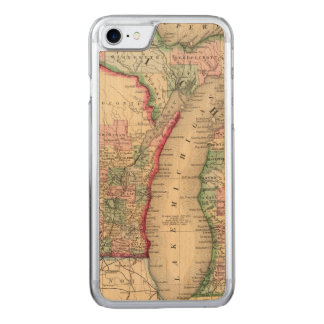 Michigan, Wisconsin Map by Mitchell Carved iPhone 7 Case