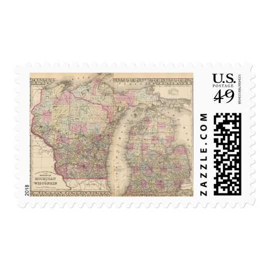 Michigan, Wisconsin Postage