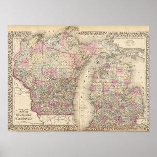 Michigan, Wisconsin Póster