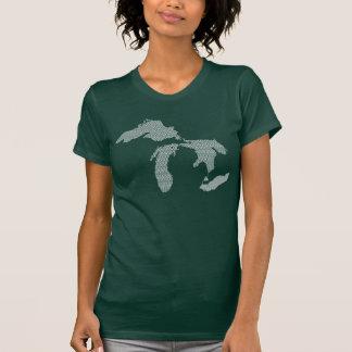 Michigan Women's Wave Design T Shirts
