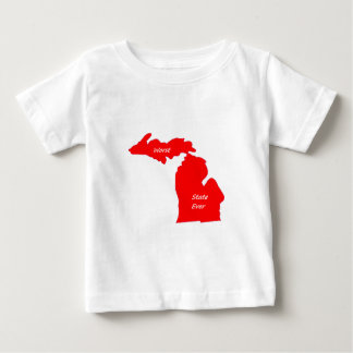 Michigan worst state ever red solid tee shirt