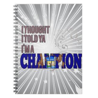 Michigan y un campeón libro de apuntes con espiral