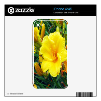 Michigan Yellow Flowers Decals For The iPhone 4S