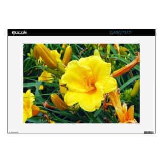 "Michigan Yellow Flowers Skin For 15"" Laptop"