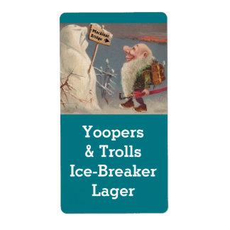 Michigan Yooper Troll Home brewing Beer Label