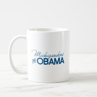 Michiganders for Obama -.png Classic White Coffee Mug