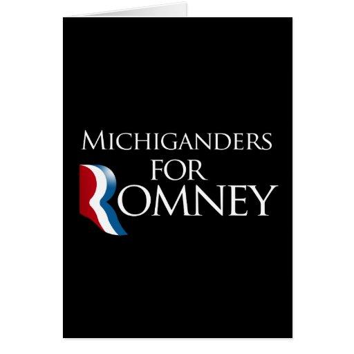 Michiganders para Romney - .png Tarjeton