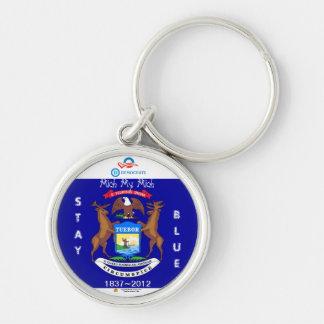 Michiganders Stay Blue ~ Keychain