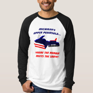 MICHIGAN'S UPPER PENINSULA SNOWMOBILING SHIRT