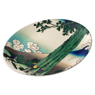 Michima Pass in Kai Province Porcelain Plates