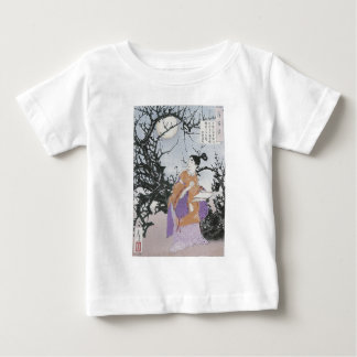 Michizane Composes a Poem by Moonlight Baby T-Shirt