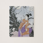 Michizane Composes a Poem by Moonlight Jigsaw Puzzles
