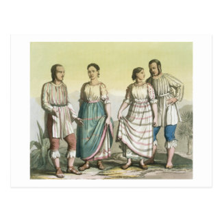 Michoacan Indians in Traditional Costume, Mexico ( Postcard