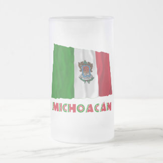 Michoacán Waving Unofficial Flag 16 Oz Frosted Glass Beer Mug