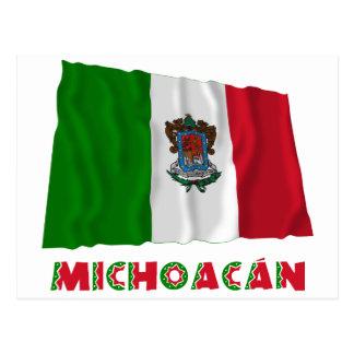 Michoacán Waving Unofficial Flag Postcards