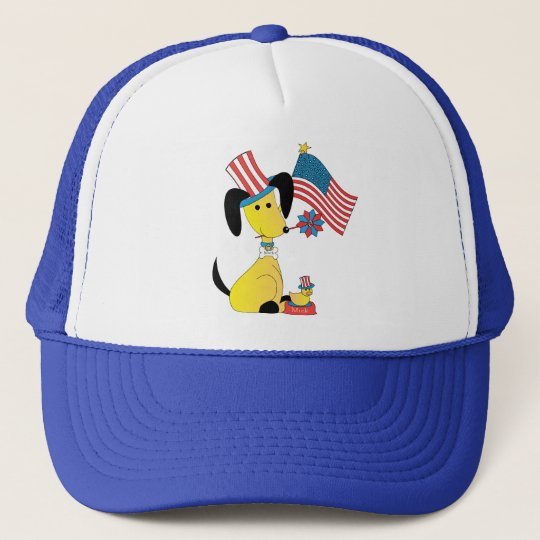Mick and Henry Celebrate the 4th of July Trucker Hat