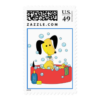 Mick and Henry Take a Bath Stamp