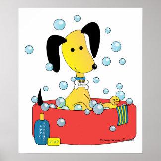 Mick y Henry toman un baño Póster