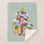 Mickey and Friends | Christmas Pyramid Sherpa Blanket